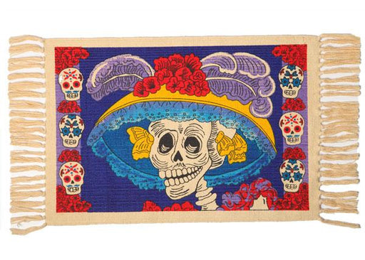 Cotton Stencil Placemat - Day of the Dead 205
