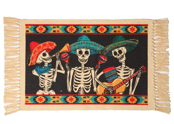 Cotton Stencil Placemat-Day of the Dead Design
