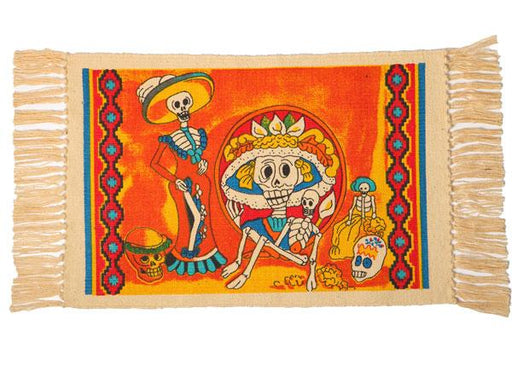 Cotton Stencil Placemat - Day of the Dead 207
