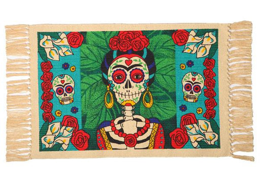 Cotton Stencil Placemat - Day of the Dead 208