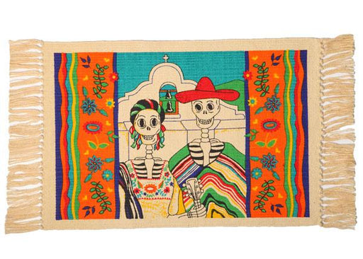 Cotton Stencil Placemat - Day of the Dead 210