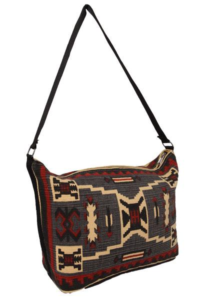 Cotton Stencil Purse- Tapestry T-2