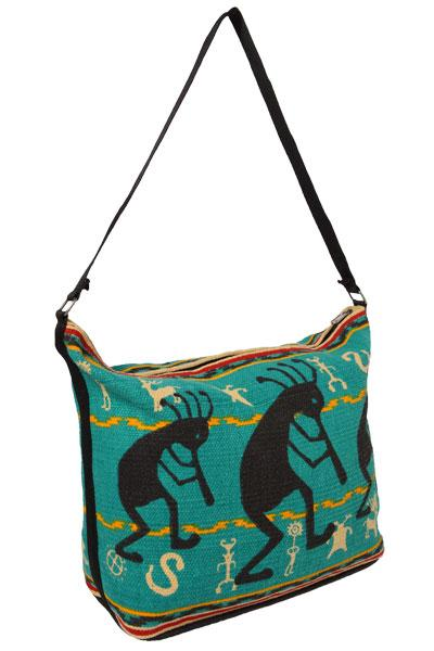 Cotton Stencil Purse- Kokopelli