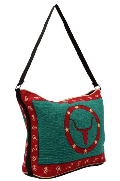Cotton Stencil Purse- Western Design