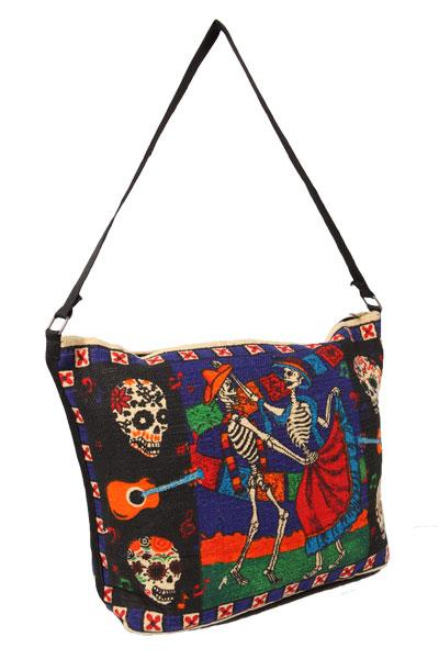 Cotton Stencil Purse-Day of the Dead Design