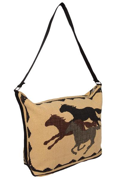 Cotton Stencil Purse- Wild Horses