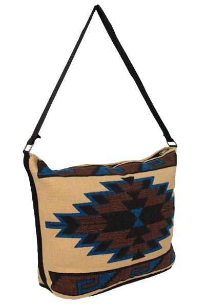 Cotton Stencil Purse- Geometric Mitla