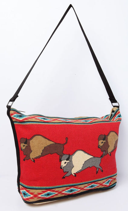 "13"" X 19"" Cotton Stencil Purse - Buffalo 300a"