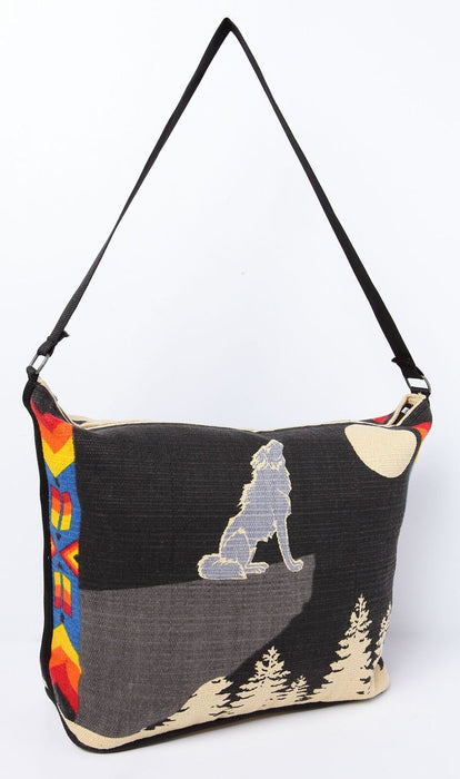 "13"" X 19"" Cotton Stencil Purse - Coyote 305"