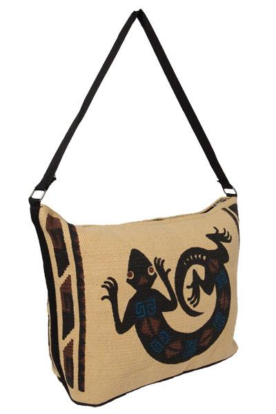 Cotton Stencil Purse- Lizard