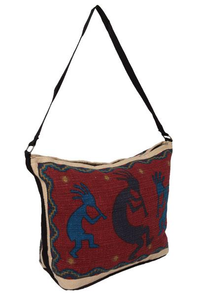 Cotton Stencil Purse- Kokopelli 2