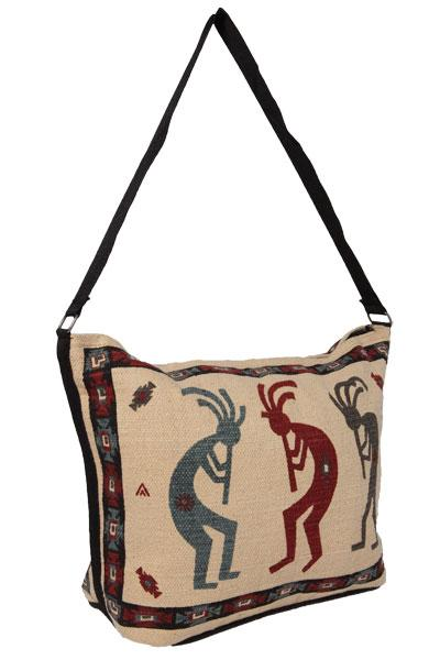 Cotton Stencil Purse- Kokopelli 3