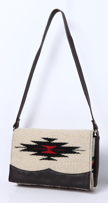 Wool Annie O. Date Purse in design A from El Paso Saddleblanket