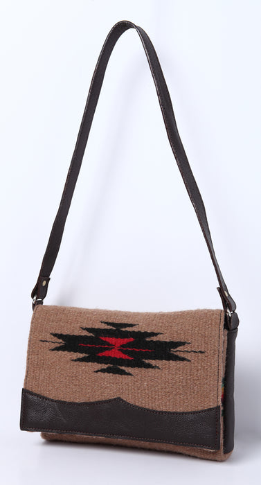 Wool Annie O. Date Purse in design B from El Paso Saddleblanket