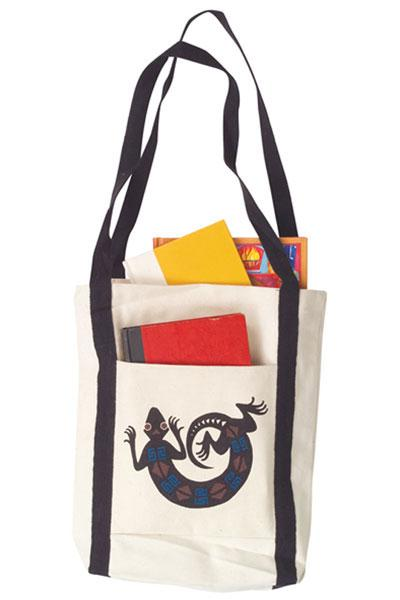 Lizard Canvas Tote Bag