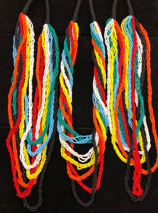 "15  Colorful 26"" Beaded Rope Necklace Collection !  Wholesale $5.25 ea."