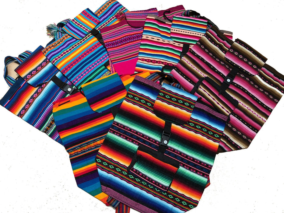 6-Pack Authentic Peruvian Made Backpacks! Only $14.50 each