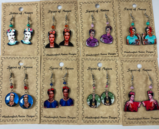 12 Pair Frida Earrings !  Wholesale  Only $2.75 each pair!