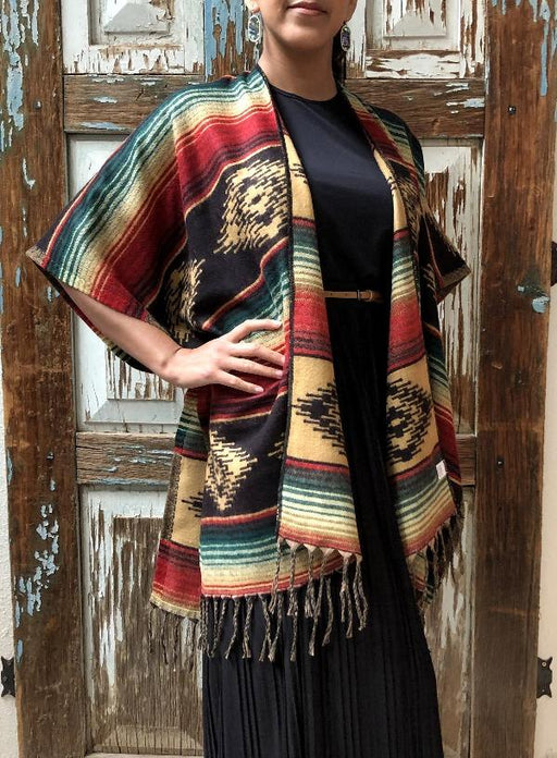 Classic Southwest Ruana in design #2 from El Paso Saddleblanket