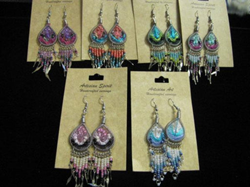 TOP SELLERS!! 8-Handcrafted Earrings from Peru! Wholesale $3.50 each pair!