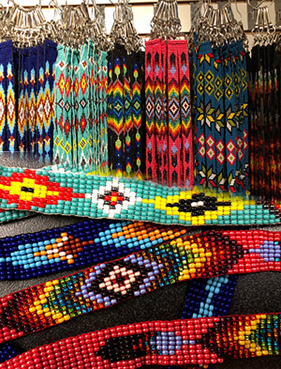 8 Assorted Native Style Bead Lanyards!  Wholesale $7.50 ea.!