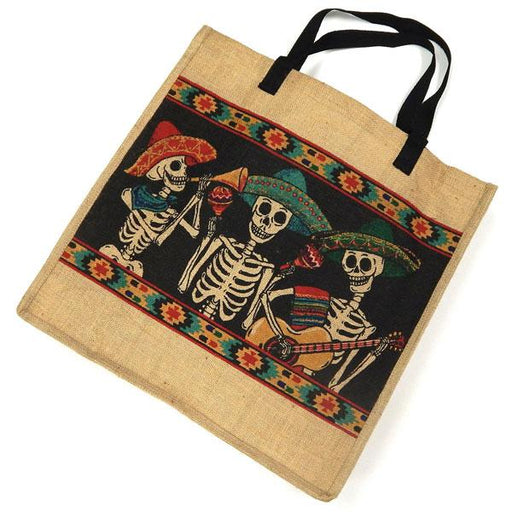 "Eco Friendly 18""x18"" Day of Dead Jute Bag"