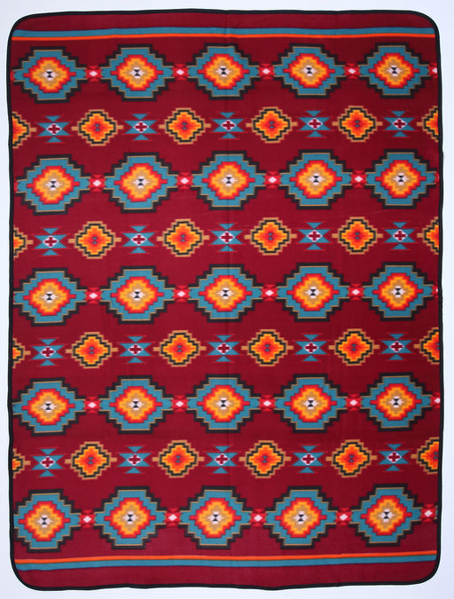 Southwest Fleece Lodge Blanket in Geometric design from El Paso Saddleblanket