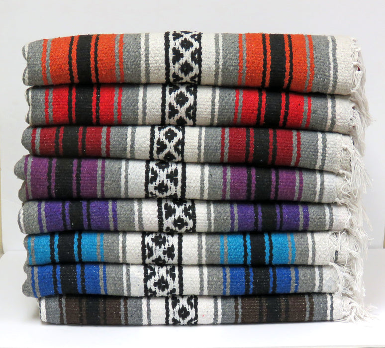 New West Southwest Mexico Style Falsa Throw Blankets from El Paso Saddleblanket