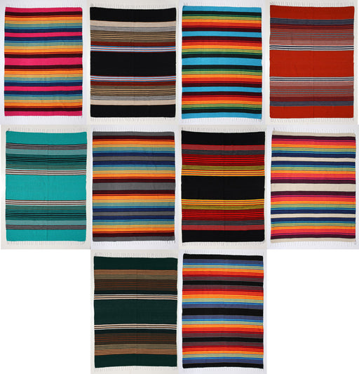 Southwest Striped Pueblo Blankets from El Paso Saddleblanket Company