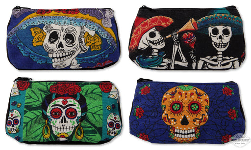 Day of the Dead Canvas Cosmetic Bags-8 Pack
