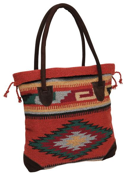 Handwoven Monterrey Tote Bag in design E by El Paso Saddleblanket