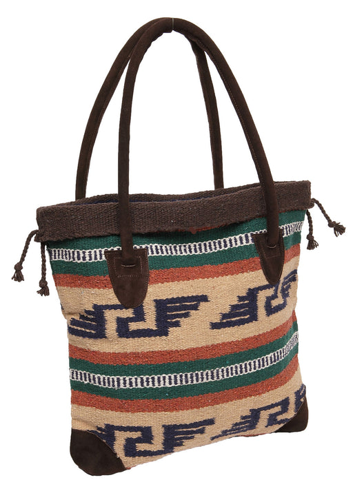 Handwoven Monterrey Tote Bag in design F by El Paso Saddleblanket