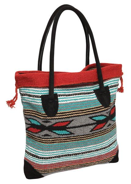 Handwoven Monterrey Tote Bag in design K by El Paso Saddleblanket