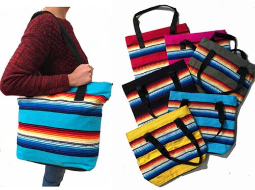 "10 Pc Serape Colorful 12"" x 6"" x 13"" Tote Bags ! Only $12 ea.!"