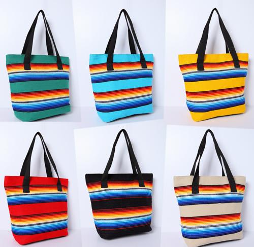 "6 Pc Serape Colorful  12"" x 6"" x 13"" Tote Bags !  Only $14 ea.!"