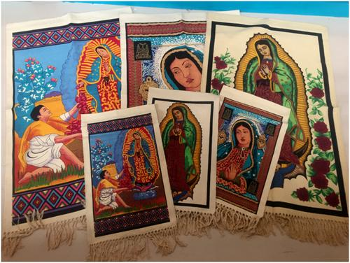 NEW! 12 Guadalupe Wall Hangings!  WHOLESALE- $6.12 ea.!