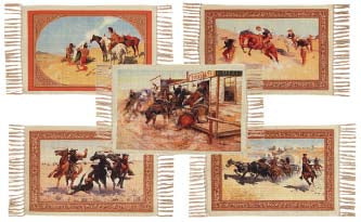 30 Mat Pack - Digital Print Wild West Design, Wholesale - $1.75 ea.!