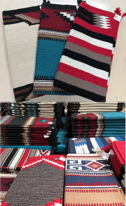 "3 pc. 32"" x 64"" Heavy Wool Saddleblankets ! Wholesale $48 ea."