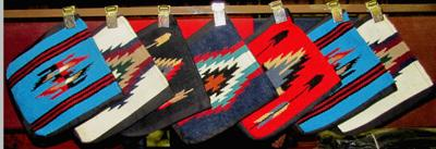 "16 - HAND WOVEN ""CHIMAYO""  WOOL/COTTON STYLE  TOTE BAGS !  Only $7.25 ea!"