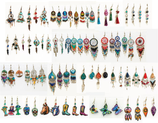 50 Pair Earring Assortment, Wholesale $2.00 ea!