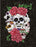 Heavy Fleece Pictorial Plush Blanket. SIX SUGAR SKULLS.
