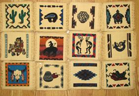 72 Prepacks of 6x6 Southwest Design Coasters