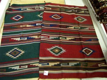TWO-4' x 6' HAND WOVEN SOUTHWEST RUGS !   ONLY $72 ea