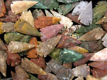 "2"" Imported High Grade Arrowheads"