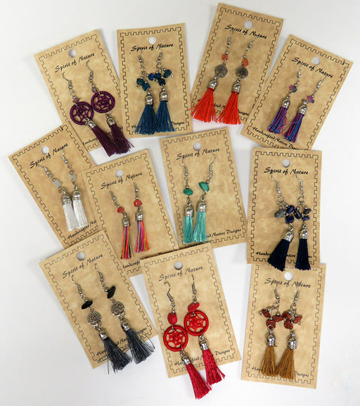 Tassel Earring Collection! 24-Handcrafted Fashion Earrings! WHOLESALE $2.50 ea