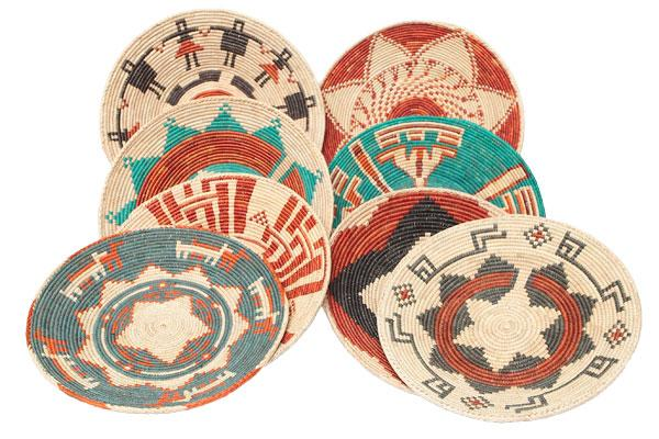 Handcrafted Southwest Style Color Baskets from El Paso Saddleblanket Company