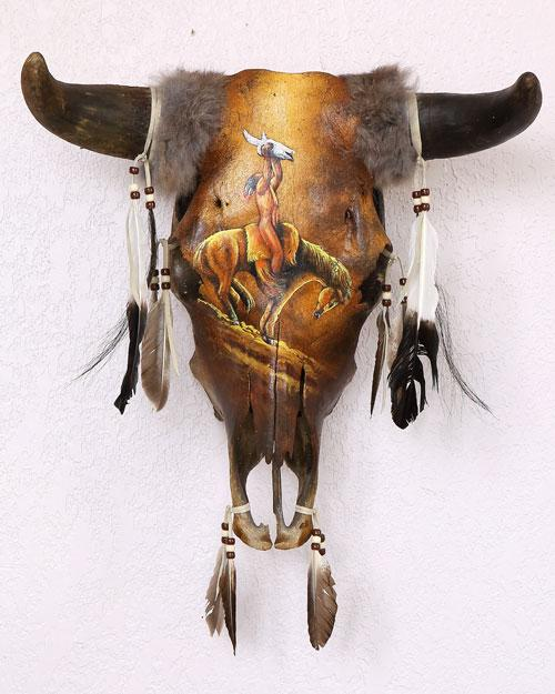 BEAUTIFUL  Warrior Offering Southwest Hand Crafted Skull! WHOLESALE $64 ea!