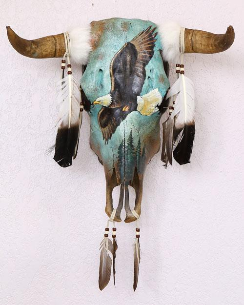 Hand Crafted Soaring Eagle Southwest Skull! WHOLESALE-$72 ea!