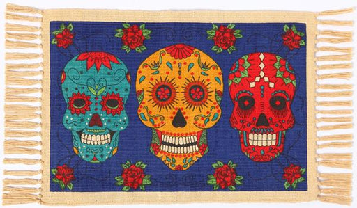 Cotton Stencil Placemat - Day of the Dead 221