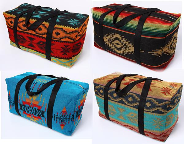 "6 - Southwest XL 22""x 10""x 12""  Weekender Bags!  Wholesale $23.50 ea.!"